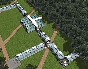 3D model Ecological restaurant architectural design