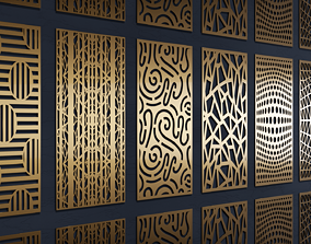 Geometry pattern pack - 7 patterns 3D
