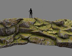 mosy rock 3D asset