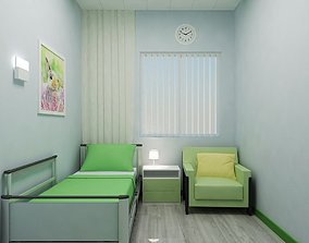 3D model Solitary ward in the hospital