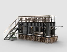 3D model Shipping Container Cafe 3