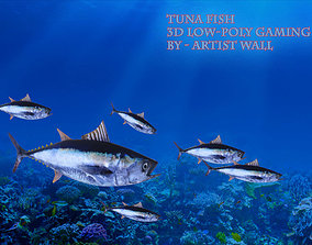 Tuna Fish Lowpoly 3D Gaming model low-poly