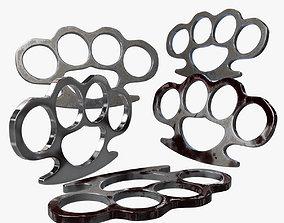 Brass Knuckle 3 Model different texture 3D asset