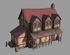 Medieval inn 3D model