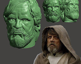 LAST JEDI OLD LUKE HEAD FOR FIGURES V1 3D print model