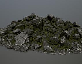 desert 3D model VR / AR ready rocks