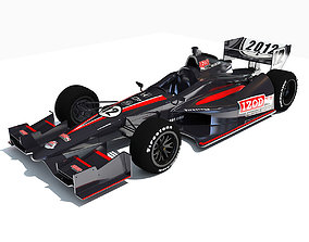 3D model Black Indycar IZOD Race Car