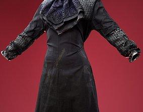 Black Long Dress 3D asset