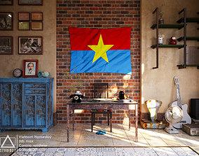 Vietnam Homestay Reception 3D Scene