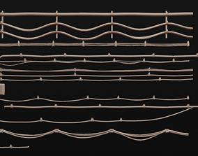 Tileable Cables Model Set 3D asset