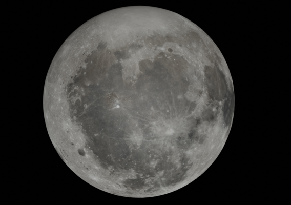 Hyperrealistic Moon 23K