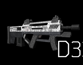 3D model D33 Assault Rifle - GameReady - LowPoly