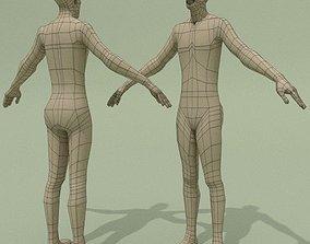 LowPoly Man Base Mesh 3D asset