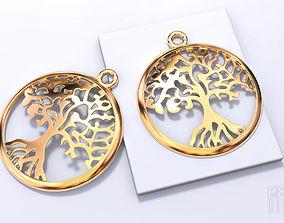 tree pendants Yggdrasil tree of life 3D print model