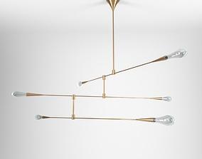 Teardrop 3 by DESIGN HAUS LIBERTY 3D model brass