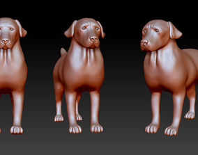 Labrador retriever figurine 3D print model 3D print model