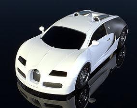 3D bugatti car model