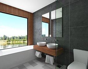 Contemporary Bathroom Scene 3D model
