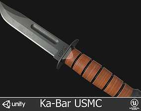Ka-Bar USMC Knife 3D model