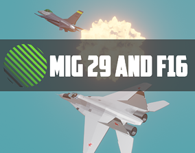 3D model MIG 29 AND F16 low poly