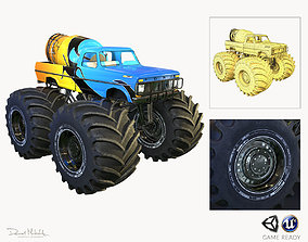 Monster Truck Bigfoot PBR 3D model