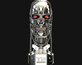 3D print model Terminator T-800 Skull Bust V2