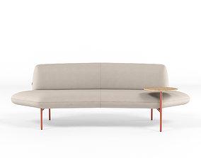 Haworth Openest Feather Sofa Symmetrical 3D model