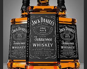 rendering Jack Daniels Bottle 3D