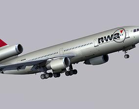 3D model McDonnell Douglas DC-10 Northwest Airlines