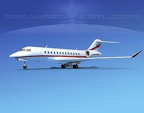 3D Bombardier Global Express 6000 V11