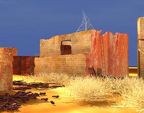3D Destroyed City Scene