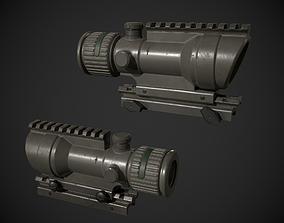 3D model ACOG Rifle Scope