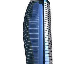 Modern Tall Glass Office 3D