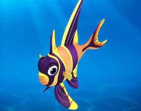3D model Cartoon fish08 Rigged Animated