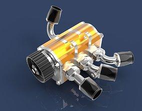 Dry sump oil pump 3D