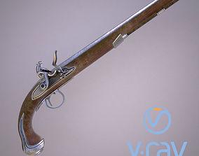 Flintlock pistol model 3D