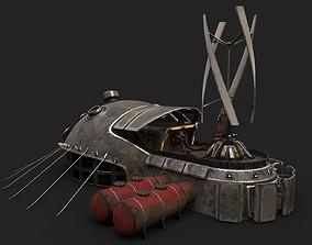 3D model Sci-fi Building 1901 Electric generator