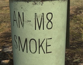 3D asset AN-M8 Smoke Grenade