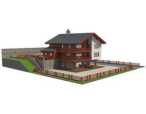 3D Chalet House 1