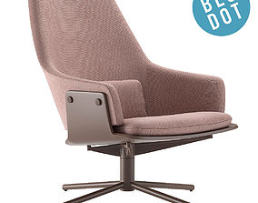 Blu Dot Lock Lounge Chair 3D model