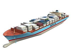 3D Lexa Maersk Container Ship
