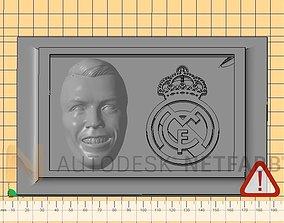 Cristiano Ronaldo - Real Madrid - 3D print ready frame
