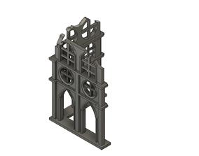 Damaged Gothic wall 3D print model