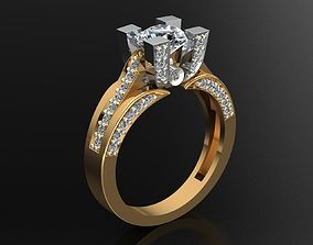 MGold027r Engagement Ring 3D print model