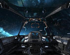 3D Spaceship Cockpit v1