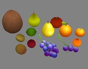 3D model Cartoon fruits -