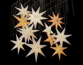3D model Swedish Stars Decorative Set