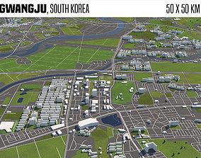 3D model Gwangju South Korea 50x50km