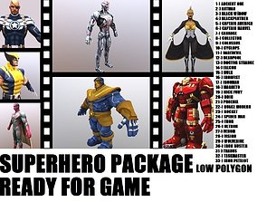 3D Superhero Big Collection I