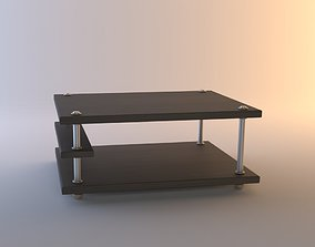 Table glass contemporary 3D model